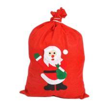 Новогодний мешок для подарков, 40х60 см, Дед Мороз