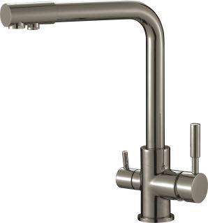 Смеситель для кухонной мойки под фильтр Savol S-L1801L сатин