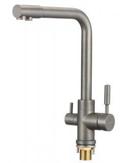 Смеситель для кухонной мойки под фильтр Savol S-L1801Q графит