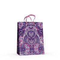 """Вертикальный подарочный пакет """"Кашемир"""", фиолетовый М (А5)"""