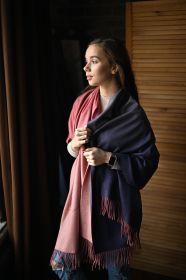 Роскошная классическая шотландская  шаль, высокая плотность, 100 % драгоценный кашемир , расцветка Мульти Омбрэ, OMBRE SOFT MULTI CASHMERE (премиум).