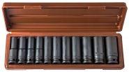 """912511 Набор головок торцевых для ударного инструмента 1/2""""DR, 10-24 мм, 11 предметов"""