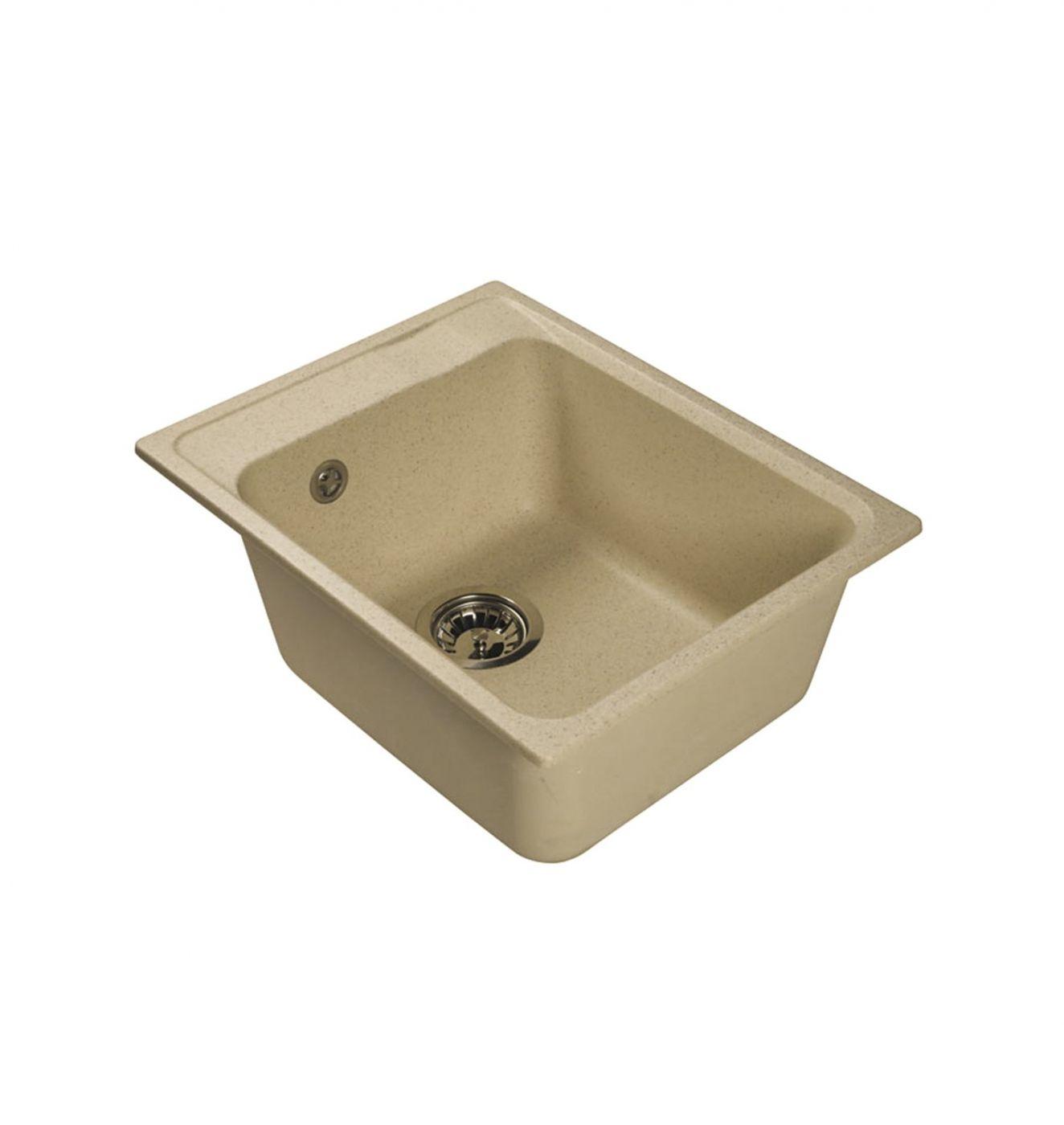 Врезная кухонная мойка LEX Nemi 510 Ivory  41х51см искусственный мрамор RULE000076
