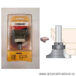 Кромочная калевочная фреза твердосплавная D54 x L20-73 x R12,7 x S12 мм DIMAR 1592039