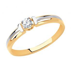 Кольцо из золота с фианитом Swarovski 81010489 SOKOLOV