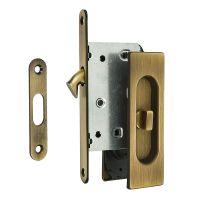 Комплект ручек Extreza P401 WC для раздвижных дверей с замком. бронза матовая