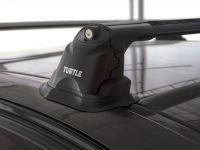Багажник на крышу Mazda 6 (GH) 2007-13 sedan/hatchback, Turtle Air 3 Premium, аэродинамические дуги в штатные места (черный цвет)