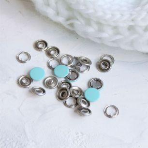 Кнопки рубашечные закрытые - Мятный металл 9.5 мм