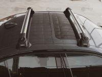 Багажник на крышу Mazda 6 (GH) 2007-13 sedan/hatchback, Turtle Air 3 Premium, аэродинамические дуги в штатные места (серебристый цвет)