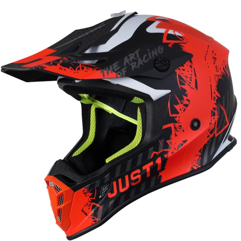 Just1 J38 Mask Fluo Orange Titanium Black Matt шлем внедорожный