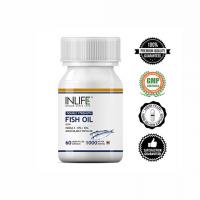 Рыбий жир Омега-3 (двойная сила) в капсулах Инлайф | INLIFE Fish Oil Omega 3 fatty acids (Double Strength) Supplement