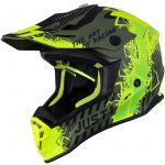 Just1 J38 Mask Fluo Yellow Black Green Matt шлем внедорожный