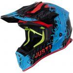 Just1 J38 Mask Blue Red Black шлем внедорожный