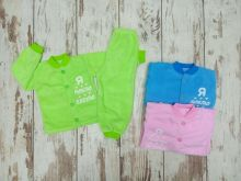 Костюм: кофта, штаны dA-KS013(p)-FL / флис на пуговицах, бабуля дедуля, цвет микс