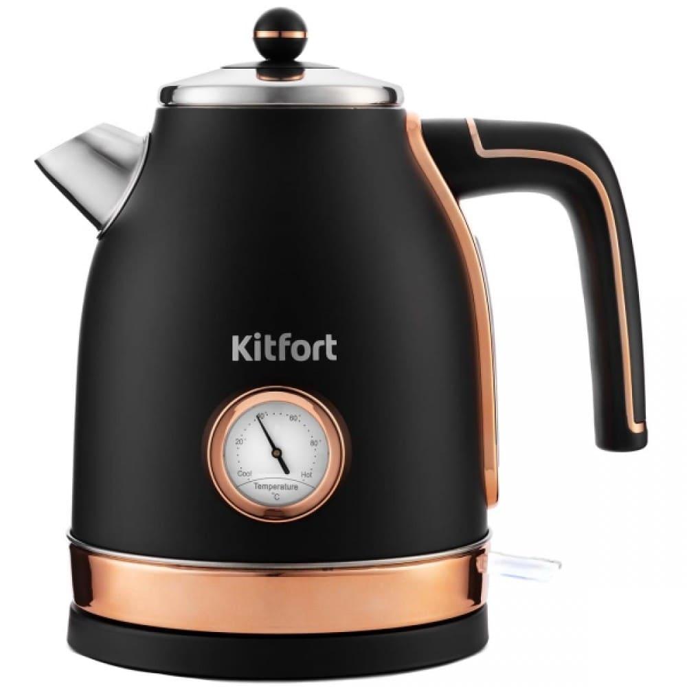 Чайник KitFort KT-6102-2 черный с золотом