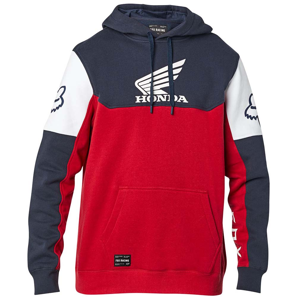 Fox Honda Pullover Fleece Navy/Red толстовка