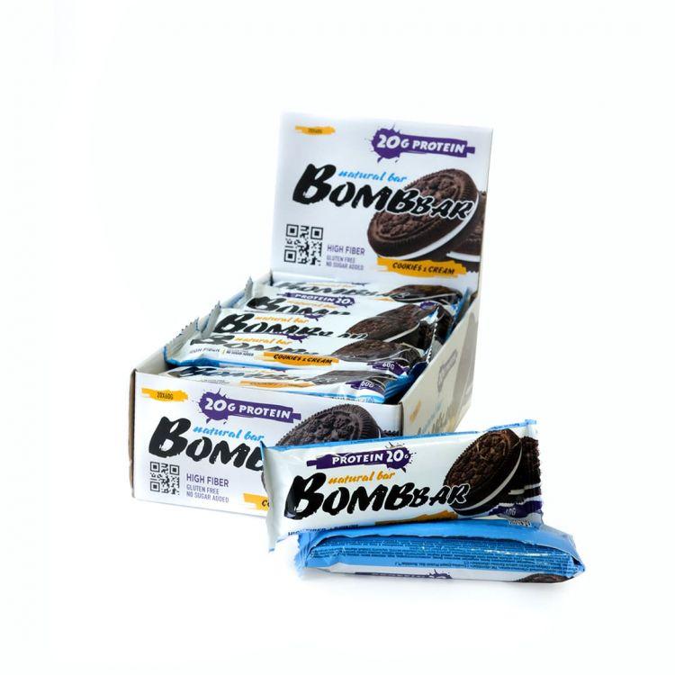 Протеиновый батончик Bombbar Печенье с кремом 60 гр