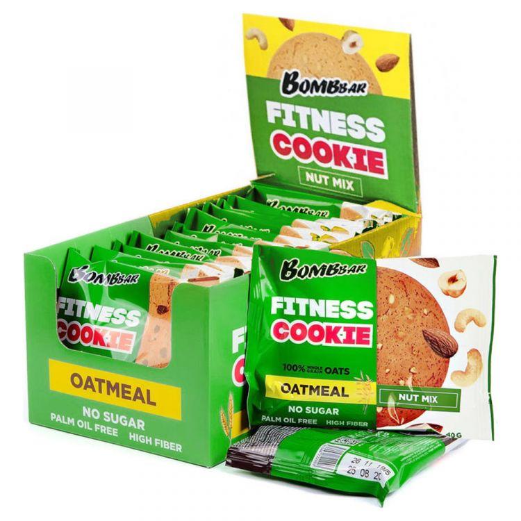Овсяное fitness печенье Bombbar Ореховый микс 40 гр