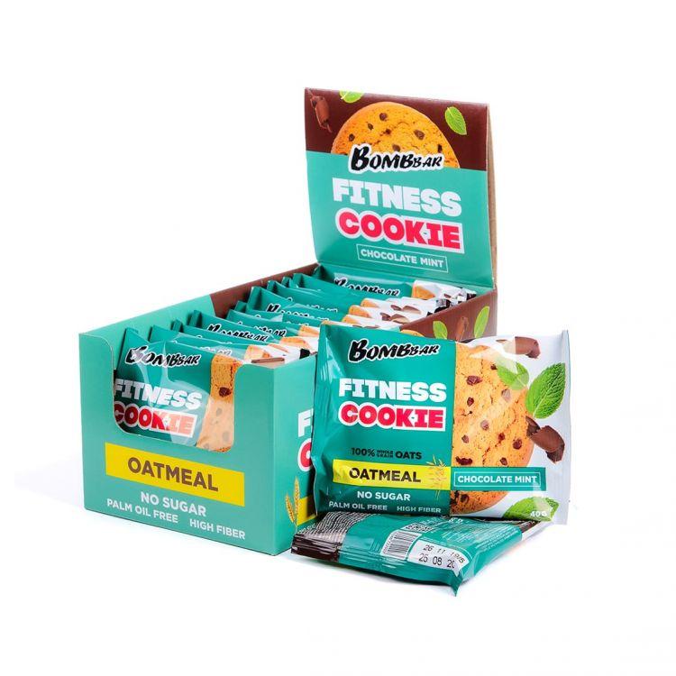 Овсяное fitness печенье Bombbar Шоколад-мята 40 гр