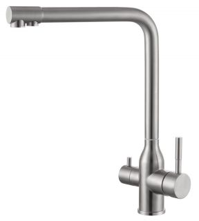 Смеситель для кухонной мойки Fmark FS0262 под фильтр сатин