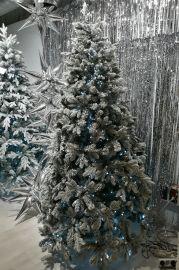 Ель Габи Снежная с гирляндой 150 см