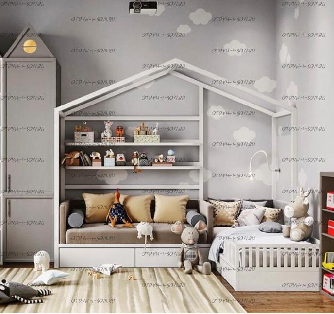 Кровать Домик угловой Fairy Land (для двоих детей)