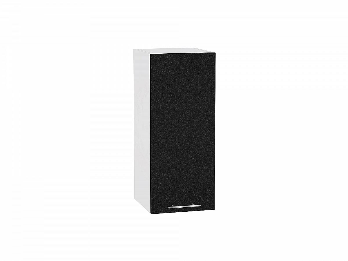 Шкаф верхний Валерия В300 (чёрный металлик)