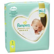 Pampers Premium Care Newborn  2-5кг 72шт (1)