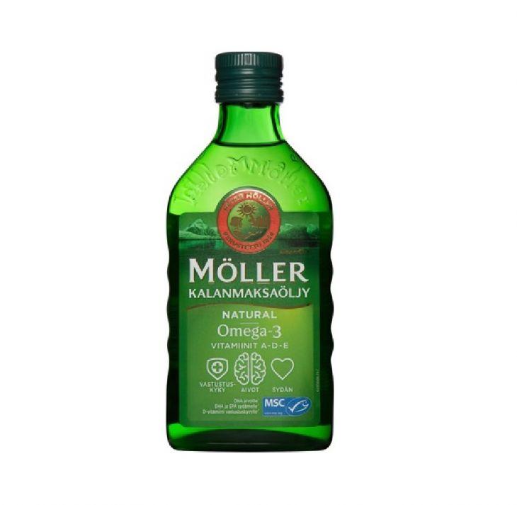 Moller Kalanmaksaoljy Natural Omega-3 Vitamiinit A-D-E ravintolisä 250ml
