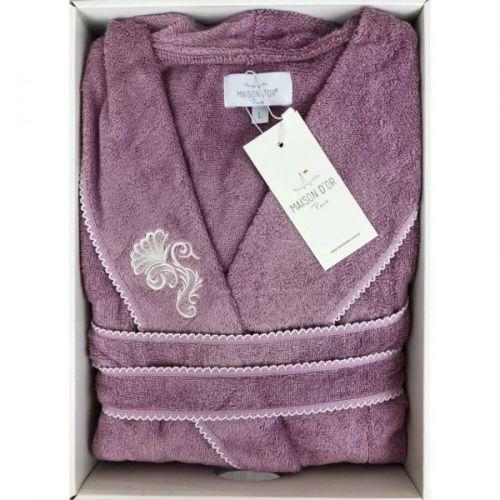 Женский махровый халат Gloria фиолетовый
