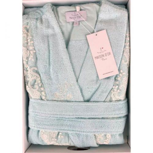 Женский махровый халат Neria бирюзовый