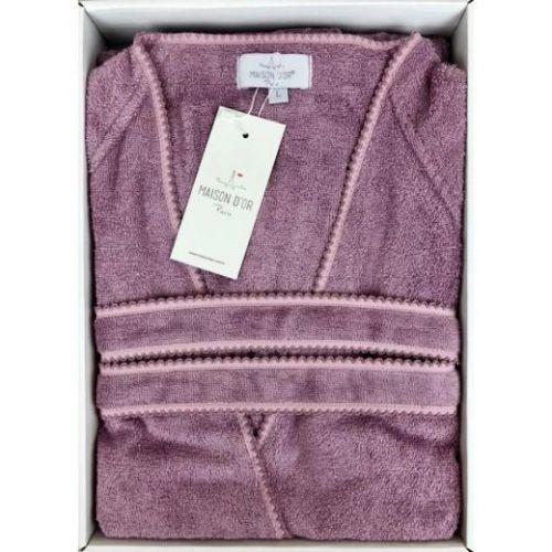 Женский махровый халат Lisa фиолетовый