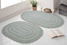 Комплект ковриков для ванной YANA 60x100 + 50x70 (серый) Арт.5026-6