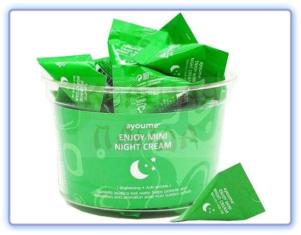 Крем для лица ночной с центеллой азиатской Ayoume Enjoy Mini Night Cream