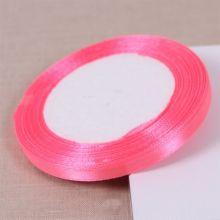 Лента атласная 0,6 см цвет розовый