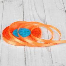 Лента атласная 0,6 см цвет оранжевый