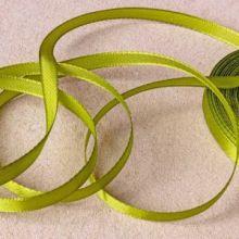 Лента атласная 0,6 см цвет оливковый