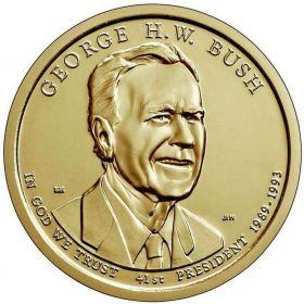 1 доллар США 2020 - 41-й президент США - Джордж Буш(старший)