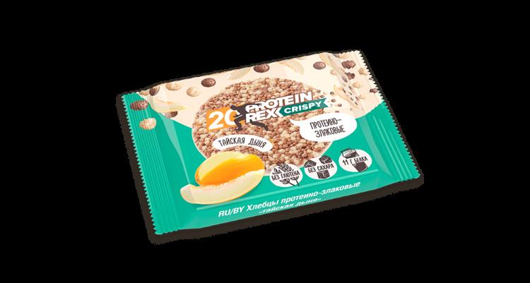 Proteinrex Хлебцы протеино-злаковые 20% протеина Crispy  55 г Тайская дыня