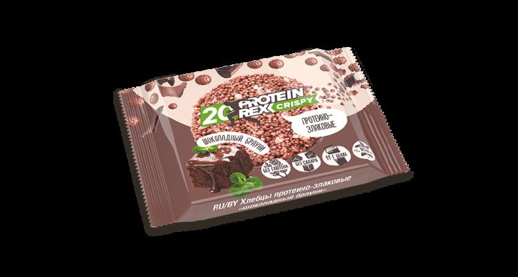 Proteinrex Хлебцы протеино-злаковые 20% протеина Crispy  55 г Шоколадный брауни