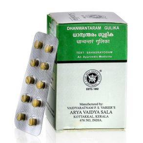 Дханвантарам гулика Dhanwantharam gulika Kottakkal 100 таб, астма, икота, боль в груди, ревматизм