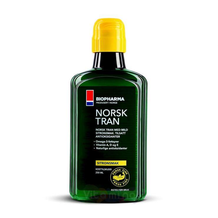 Biopharma Norsk Tran Omega-3 250 мл Лимон