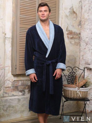 Мужской махровый халат Pegasus джинс