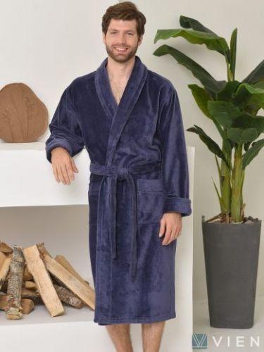 Мужской махровый халат Prestige Line denim