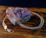 """Позолоченный двухтонный браслет, плетение """"кольчуга"""", 7 мм (арт. 2502181)"""
