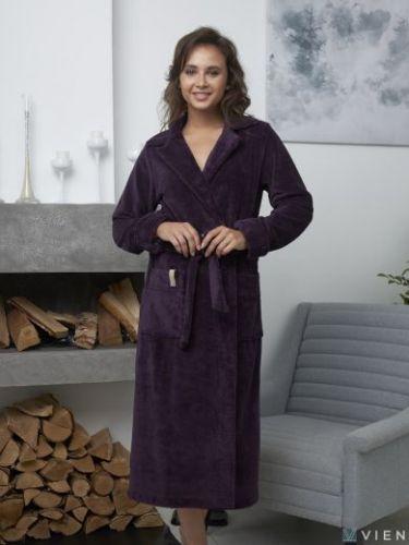 Женский бамбуковый халат Valencia слива