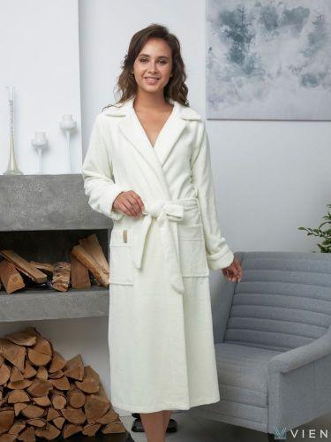Женский бамбуковый халат Valencia крем
