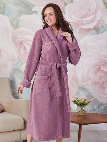 Женский махровый халат из микрокоттона Ms.Luxor old rose