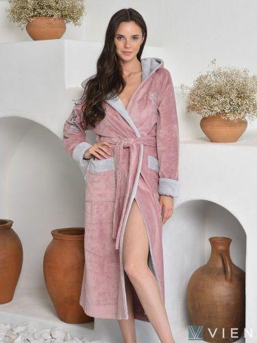 Женский махровый халат Athletic Lady pudra