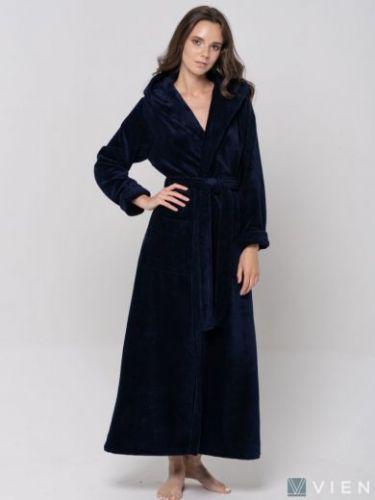 Женский махровый халат Lady нави